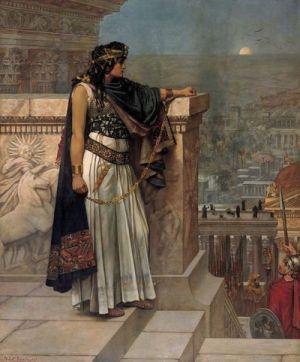Ostatnie spojrzenie królowej Zenobii na Palmyrę - Herbert Schmalz
