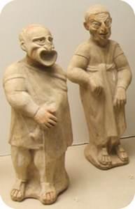 Rzymskie figurki ukazujące aktorów w maskach