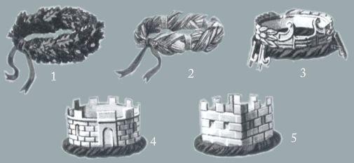 Roman battle decorations - crowns