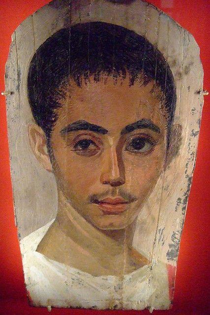 Portret młodzieńca z rzymskiego Egiptu po operacji oka