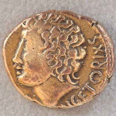 Złoty stater z wizerunkiem Wercyngetoryksa