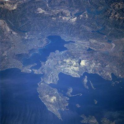 Widziana z kosmosu Zatoka Ambrakijska