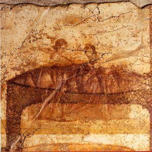 Fresk z Pompejów ukazujący miłość lesbijską
