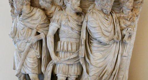 Fragment reliefu z sarkofagu rzymskiego