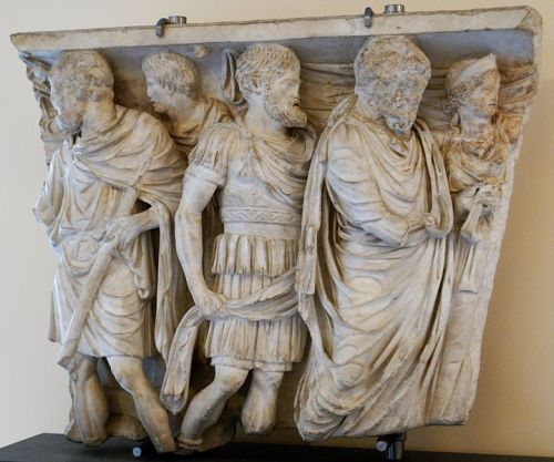 Fragment of the relief from the Roman sarcophagus
