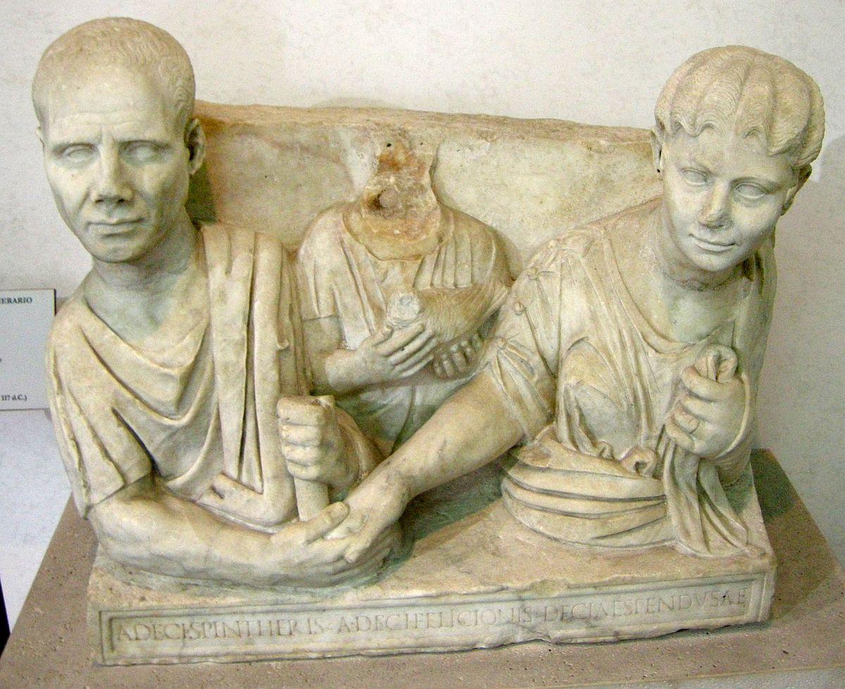 Rzymski relief grobowy