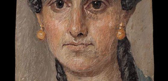 Roman woman in a blue cloak