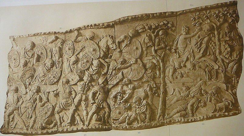 Relief ukazujący walki Rzymian z Dakami