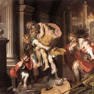 Eneasz opuszcza płonącą Troję, Federico Barocci