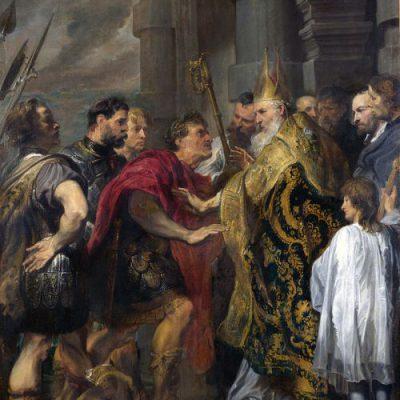 Święty Ambroży i cesarz Teodozjusz,  Antoon van Dyck