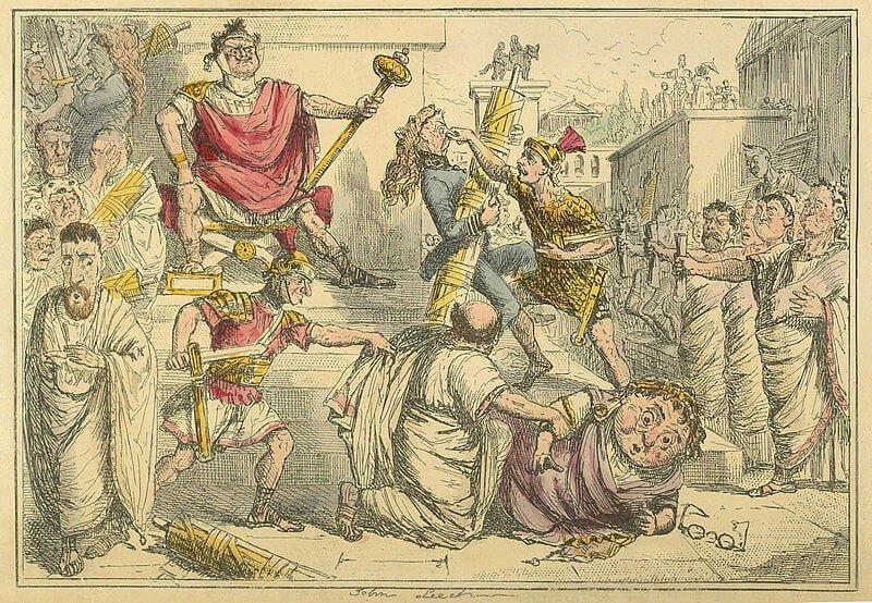 Tarquinius Superbus ogłasza się królem