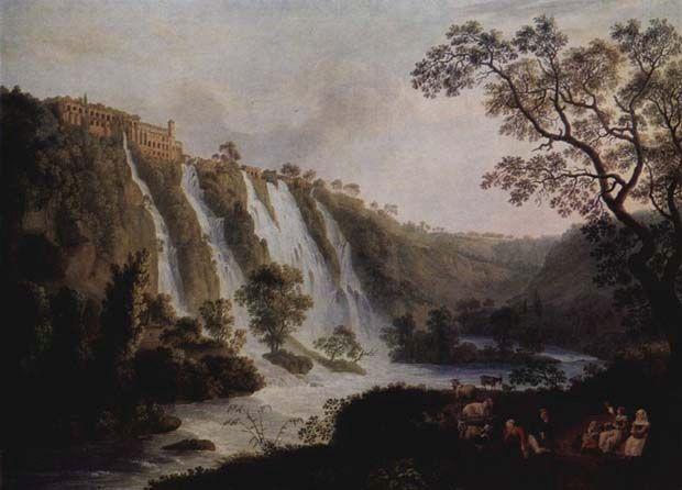 Villa of Maecenas in Tivoli, Jacob Philipp Hackert