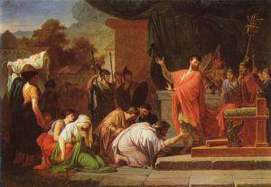 King Perseus Antygonid before Lucius Eamilius Paullus, Pierre Peyron