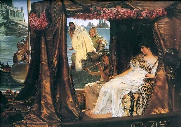 Znalezione obrazy dla zapytania kleopatra i marek antoniusz