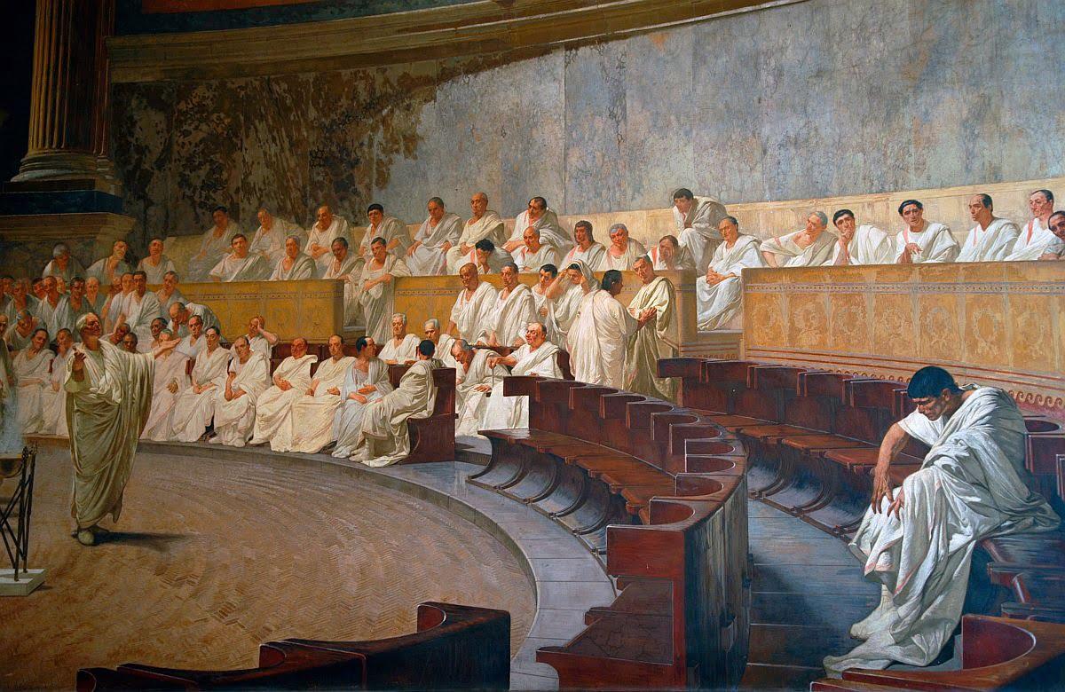 Cyceron demaskujący Katylinę, Cesare Maccari
