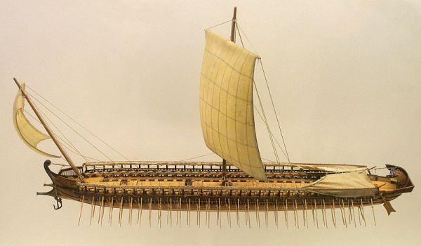 Model triremy