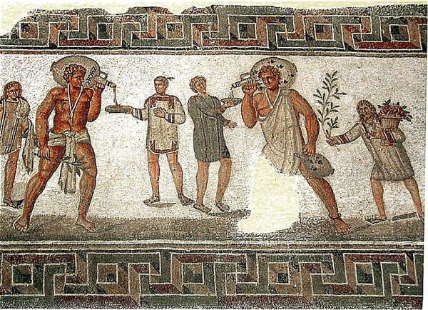 Roman mosaic from Dougg