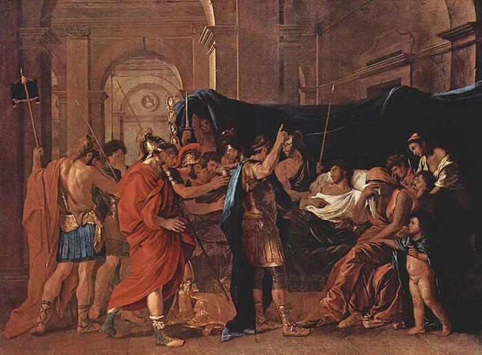 Śmierć Germanika, Nicolas Poussin