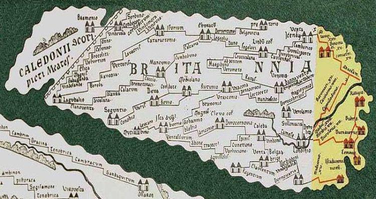 Brytania ukazana w Tabula Peutingeriana