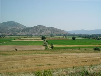Plain near Philippi - the place where opposing armies fought