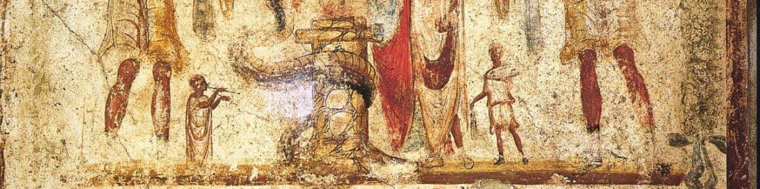 Fresk rzymski z domu Juliusza Polibiusza w Pompejach
