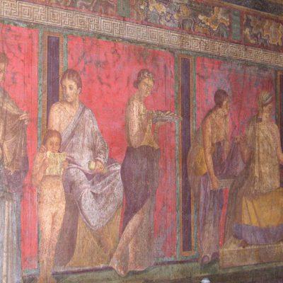 Fresk przedstawiający misteria dionizyjskie