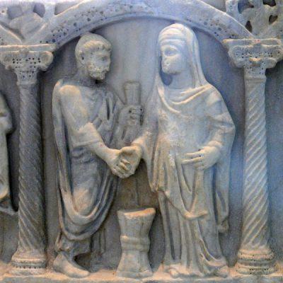 Płaskorzeźba na sarkofagu z IV wieku n.e.