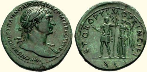 Sestertius cesarza Trajan