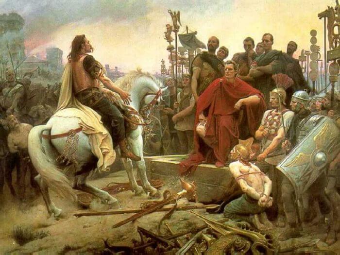Wercyngetoryks poddaje się Cezarowi, Lionel-Noel Royer