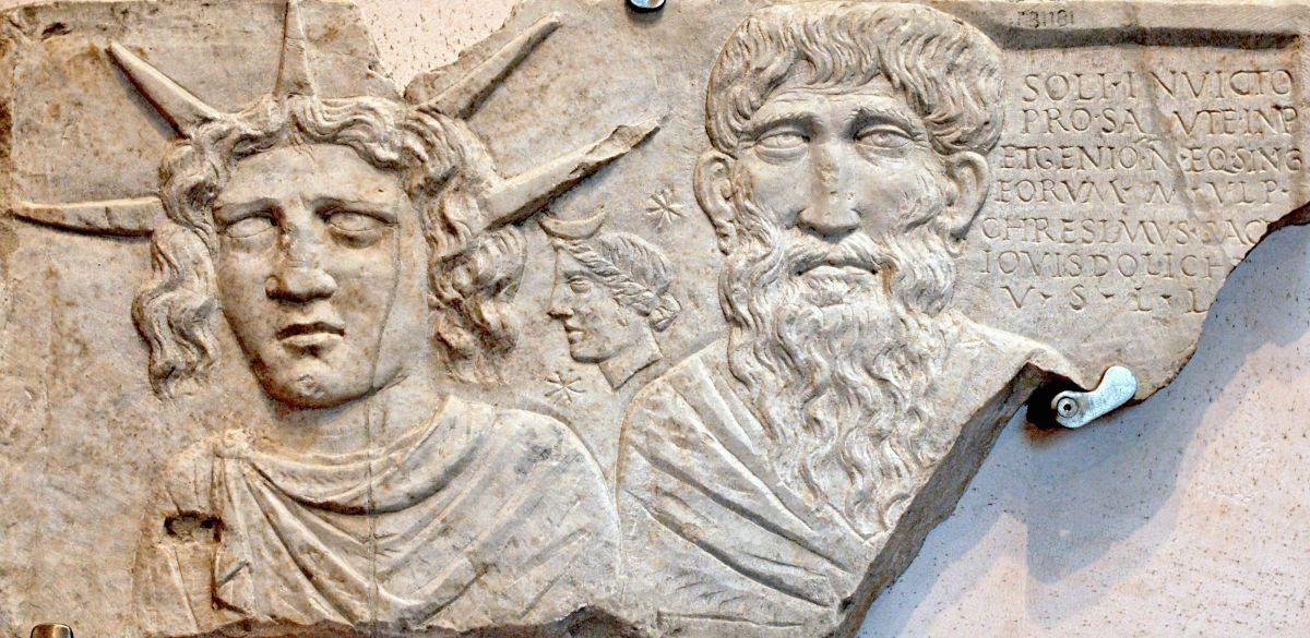 Sol Invictus na płaskorzeźbie rzymskiej z II wieku n.e.