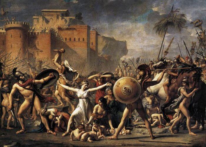 Interwencja Sabinek, Jacques-Louis David
