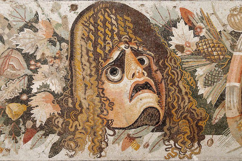 Maska teatralna na mozaice rzymskiej