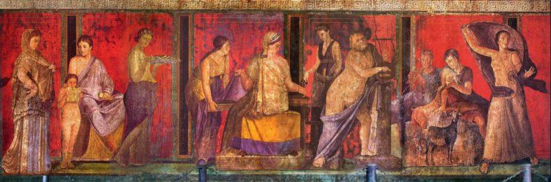Lewa strona fresku fresku Misteria donizyjskie
