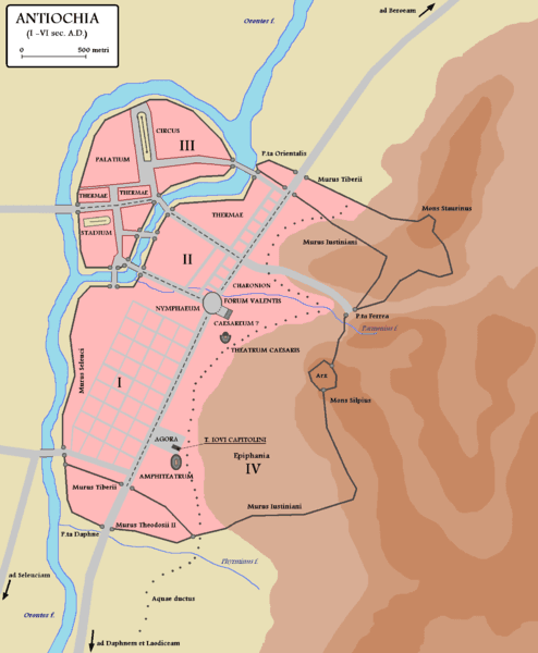 Map of Antioch in Roman times
