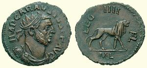 Coin of Carausius - usurper from Britain