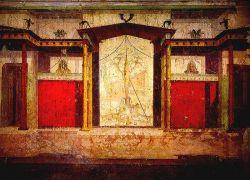 Ściany w domu Augusta w Rzymie. Wykonane w II stylu
