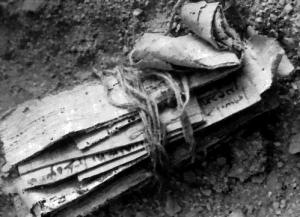 Zwój papirusu z rozkazami Bar-Kochby, znaleziony na pustyni