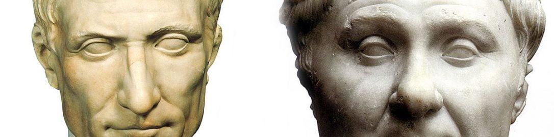 Popiersia Juliusza Cezara i Pompejusza Wielkiego