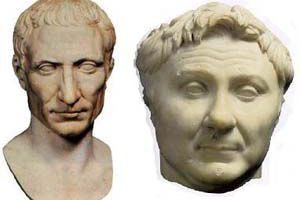 Busts of Julius Caesar and Pompey the Great