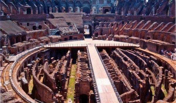 Naumachiae could be organised during first period after Colosseum was built