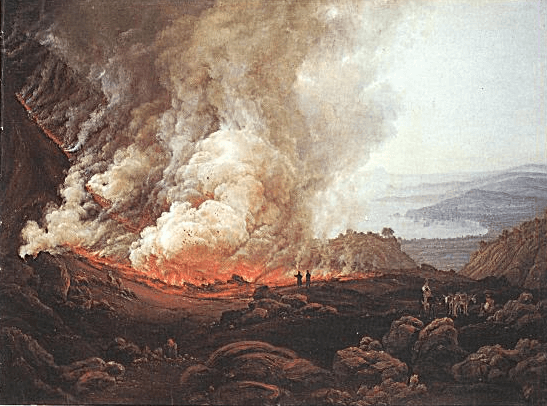 Erupcja Wezuwiusza,  I.C. Dahl