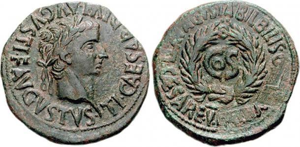 Moneta na której usunięto imię Sejana