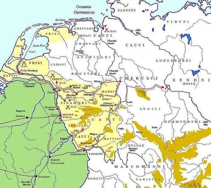 Bitwy legionów rzymskich, pod dowództwem Druzusa Starszego