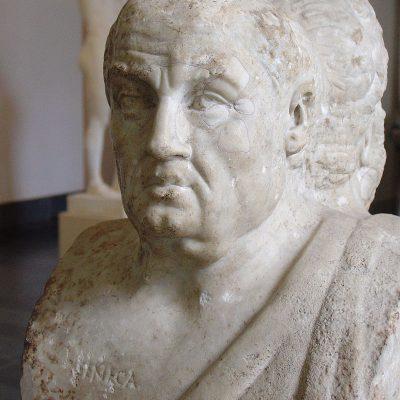 Seneka Młodszy na rzymskiej hermie