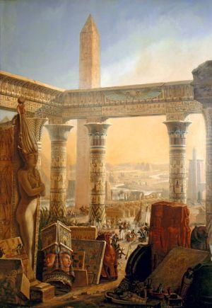 Antyczny Egipt na ilustracji