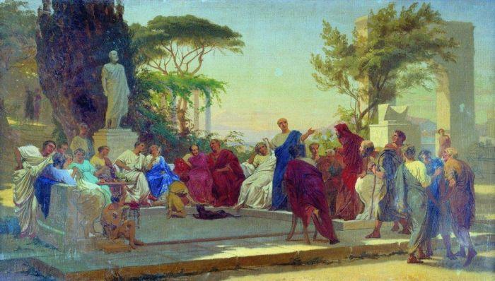 Horacy czyta przed Mecenasem, Fiodor Bronnikow