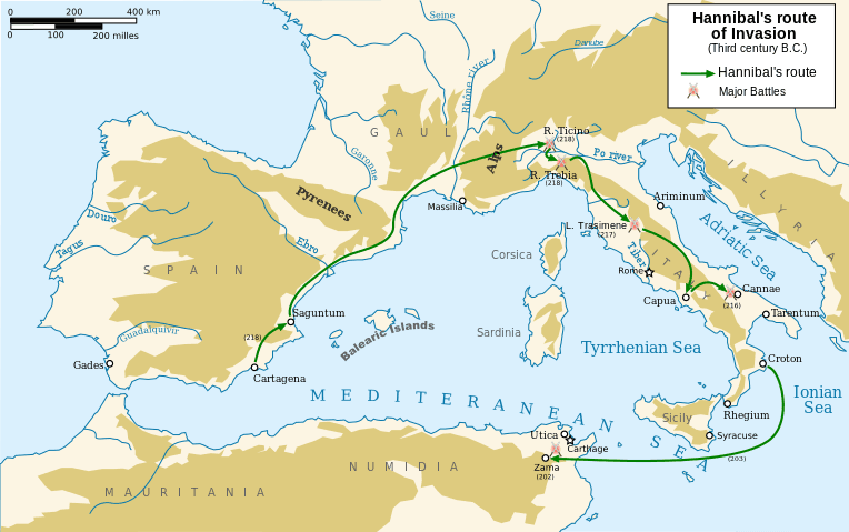 Hannibal's expedition to Italy during the Second Punic War