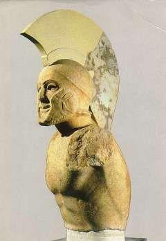 Sculpture depicting the Greek hoplite