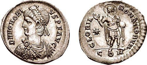 Coin of Flavius  Honorius