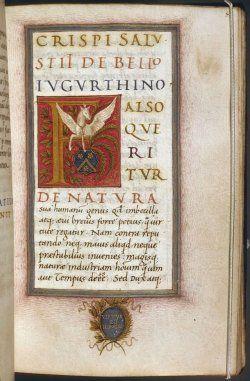 Manuskrypt Bellum Iugurthinum